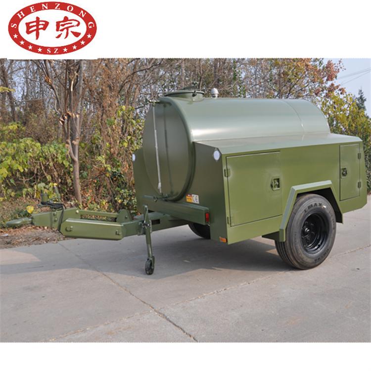 2吨304不锈钢水罐拖车